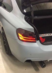 Matt-graue Effektlackierung an einem 3er BMW