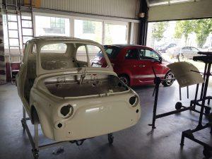 Neuaufbau Karosserie Fiat 500